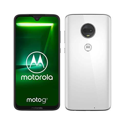 "Motorola Moto G7, Smartphone Android 9.0, Display 6,2"", Dual Camera da 12Mp, 4 64 GB, Dual Sim, Bianco (Clear White) [versione Italia]"