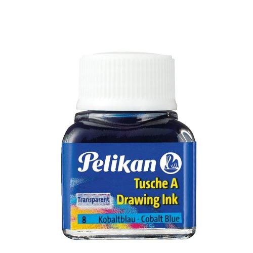 Pelikan 201574 Encre de chine A flacon 10 ml Bleu cobalt