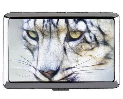 Portasigarette, scatola di sigarette per il trasporto di leopardo selvaggio leopardo delle nevi