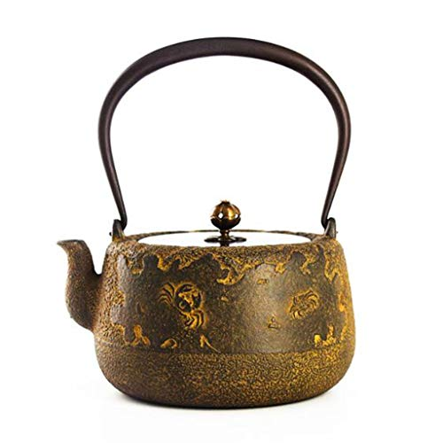 Tea Pot, Retro Small Tea Infuser, Japanese Cast Iron Heat Resistant Tea Maker with Handle, for Office Home Party, 1300ml