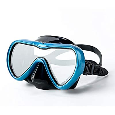 Rongbenyuan Diving Mask Swimming Goggles with Nose Cover Scuba Snorkel Mask Anti-Fog No-Leak