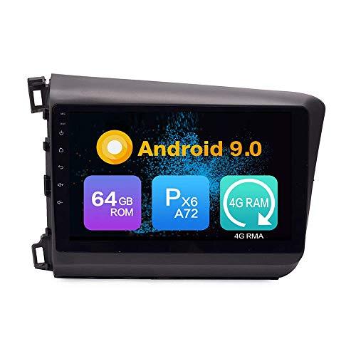 JIBO Android 10 Auto Estéreo GPS Navegación Multimedia Jugador por Honda cívico 2012-2015 Auto Radio Video Receptor Capacitivo Tocar Pantalla Teléfono Control SWC Nav Sat
