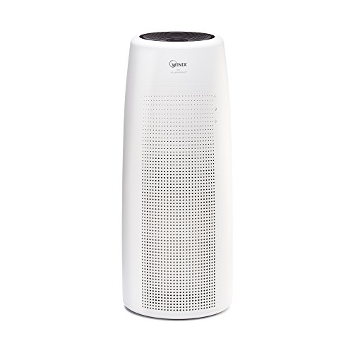 Winix, 4 Stage NK100 Large Area True HEPA Tower Air Purifier, White