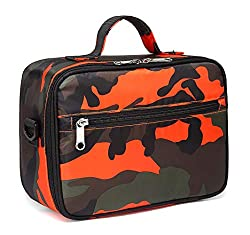 professional Insulated lunch box for girls Children's lunch box for boys (camouflage orange)