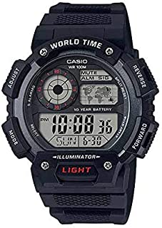 Casio G-Shock Black Rubber Casual Watch For Men - AE-1400WH-1AVDF