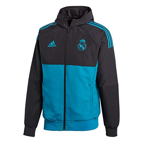 adidas Herren Real Madrid Jacke Real Madrid Ucl Präsentationsjacke, Black/Vivtea, S, BQ7829