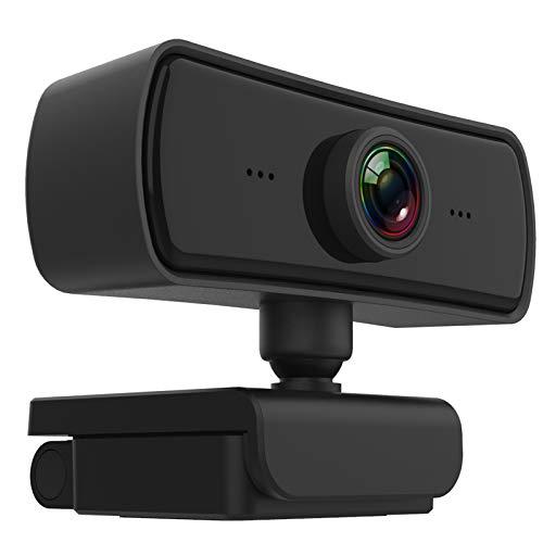 SENYERGIANT Webcam 2K mit Mikrofon, Full HD 1080P Webcam, 1440P Kompatibel, 2MP USB für Videoanrufe Videokonferenzen Online Unterricht Lernen Skype, Kompatibel mit PC Laptop MacBook