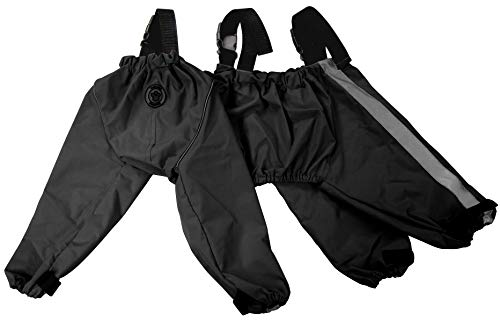 FouFou Dog 62563 Bodyguard Protective All-Weather Dog Pants, Medium, Black