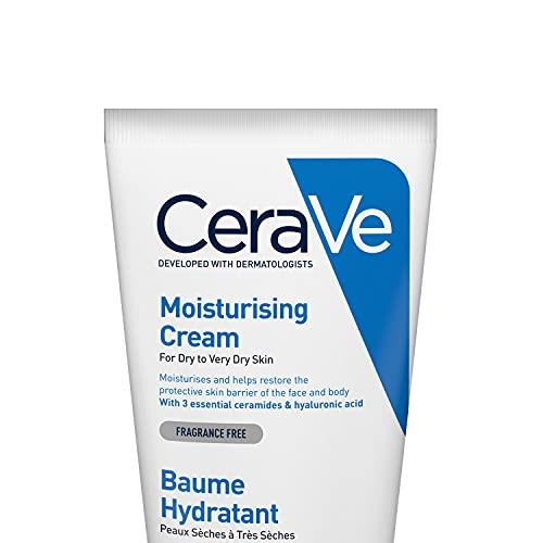 CeraVe Moisturising Cream | 177ml/6oz | Daily Face, Body & Hand Moisturiser for Dry to Very Dry Skin