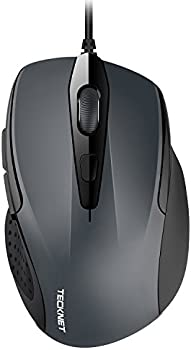 TECKNET 6-Button USB Wired Mouse with Side Buttons