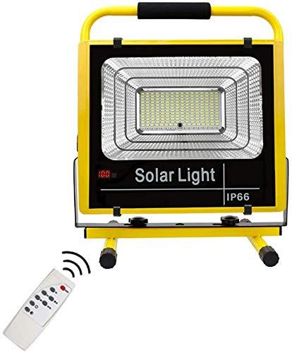 GANE Wiederaufladbare LED-Arbeitsscheinwerfer, tragbares LED-Flutlicht mit 25 W / 200 W, Fernbedienung, 3 Lichtmodi, 3 Steuerzeiten, wasserdichtes IP66 für den BAU von Campinggaragen im Freien