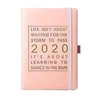 202020-2021月次プランナー 2020年1月から2020年12月まで、ハードカバーノートブック/ジャーナルノートブックペーパーアジェンダプランナージャーナルデイリーノートブックスケジュール