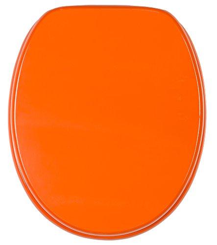 WC Sitz mit Absenkautomatik, hochwertige Oberfläche, einfache Montage, stabile Scharniere, Orange