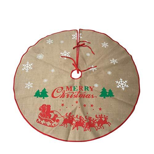 Toyvian Weihnachtsbaum Rock Leinen Weihnachtsbaumdecke Baumdecke Christbaum Unterlage Teppich Weihnachtsschmuck Weihnachtsdeko (120 cm)