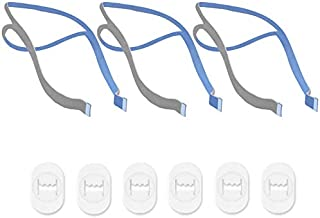 Replacement Headgear Compatible with ResMed Airfit P10 Nasal Pillow CPAP Mask Straps Included 3 Super Elastic Straps and 6 Adjustment Clips(3 Pack)