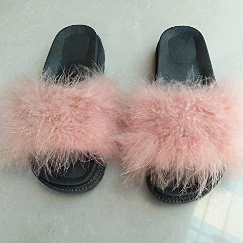 Zapatillas De Casa para Mujer Verano,2020 Zapatillas Rojas Netas, Moda De Verano Sandalias Gruesas, Color De Cabello De Las Mujeres, Desgaste El Hogar Flip 13-UE 36 (230mm / 9.05')_Rosado