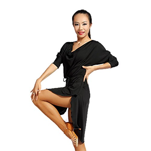Z/&X Womens Dancewear Latin Dance Dress Fancy Lace Side Split Ballroom Costumes with Shorts