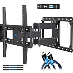 """UNIVERSAL TV MOUNT: The wall mount fits for most 32-55 inch TVs up to 99 lbs. , with max VESA of 400mm x 400mm/16"""" x 16"""" Mounting holes spacing and 16 inch wood studs spacing. Not perfect? Please check MD2380-24, MD2380-24K or MD2298 for your best id..."""