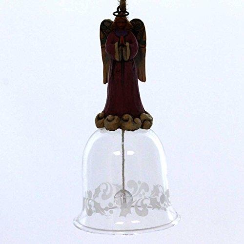 Glass Angel Bell Ornament - 8