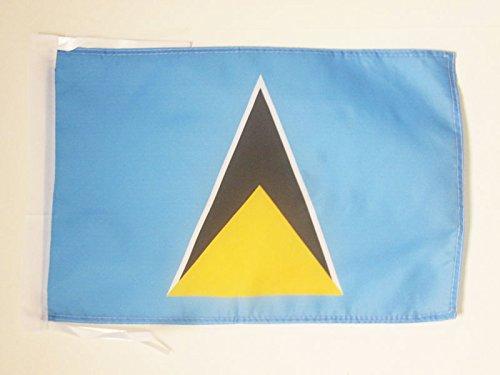 AZ FLAG Flagge ST. Lucia 45x30cm mit Kordel - Santa Lucia Fahne 30 x 45 cm - flaggen Top Qualität