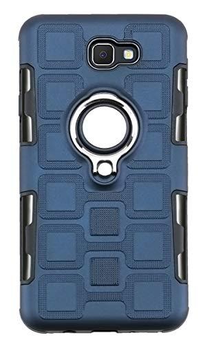 """Capa para Galaxy J7 Prime 2016, YINCANG híbrida PC + capa de silicone TPU macio com anel giratório de 360° e capa protetora de placa de metal com sucção magnética para Samsung Galaxy J7 Prime (2016) 5,5"""" azul marinho"""