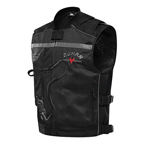 haozai Gilet Airbag pour Moto,Protection pour Le Dos, La Poitrine, Le Cou Et Le Coccyx avec Bouteille De CO2,la Lumière Réfléchissant Airbag Gilet,Usure Fissuration,Doux Et Facile À Nettoyer