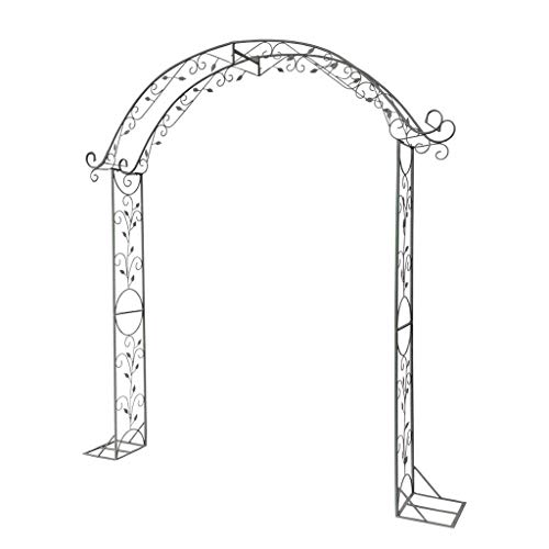 SHENRQIA Garden Patio Outdoor Metal Decorative Arch Wedding Rose Archway Ornament Arbour Pergola For Climbing Plants Support