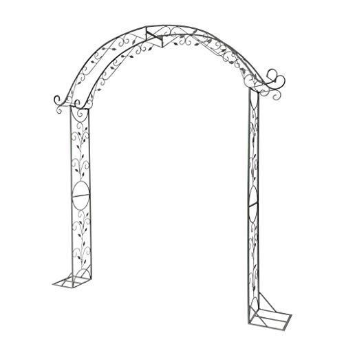 SHENRQIA Garden Patio Outdoor Metal Decorative Arch Wedding Rose Archway Ornament Arbour Pergola For Climbing Plants Support
