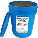 Natural Waterscapes Game Fish Food Variety | Pond and Lake Fish Food Pellets | 22 lb Pail | Feed to Bass, Bluegill, Trout | Floating Pellets