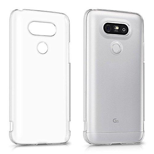 REY Funda Carcasa Gel Transparente para LG G5, Ultra Fina 0,33mm, Silicona TPU de Alta Resistencia y Flexibilidad