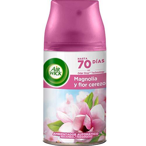 Air Wick Freshmatic Recambio de Ambientador Spray Automático, Esencia para Casa con Aroma a Magnolia y Flor de Cerezo - 1 unidad