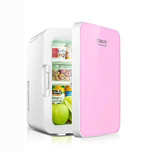 YLCJ 10L refrigerador portátil para automóvil/automóvil y hogar 12V / 220V refrigerador portátil frío y Caliente Mini refrigerador portátil al Aire Libre, Rosa