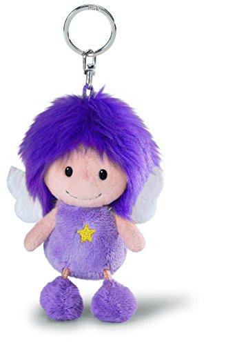 Nici N37322 Plüsch Schlüsselanhänger Schutzengel violett 10cm