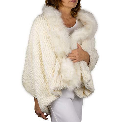 Stola bianca pelliccia ecologica elegante donna coprispalle invernale sciarpa per Matrimonio Mantella Sposa calda collo eco ecopelliccia copri abito da cerimonia scialle signora 2020 2021 Bianco