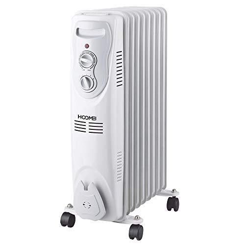 Termosifone Elettrico 2000W Radiatore ad Olio a 9 Elementi riscaldanti 3 potenze regolabili