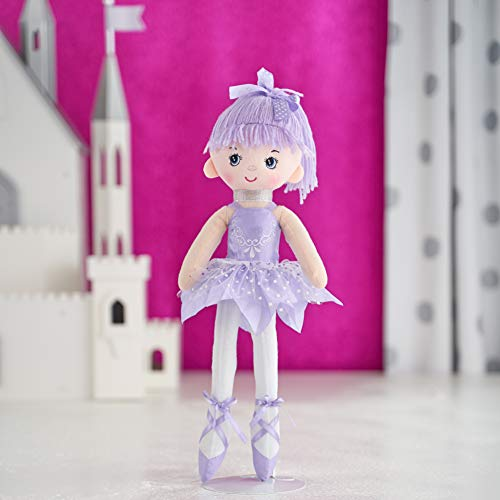 Butterfly Craze 17' Ballerina Doll for Little Girls' Ballet Dance Recital and Birthday Gifts (Purple)