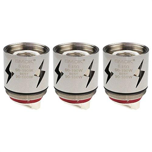 SMOK V12-Q4 Coils, 0,15 Ohm, Riccardo Verdampferköpfe für e-Zigarette, 3 Stück