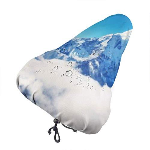 Bike Seat Cover Mountain Peak Everest Highest World National Protective Sun and Rain Resistant Bike Saddle Cushion