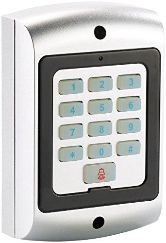 VisorTech Alarmanlage Dummy: Spritzwassergeschützte Alarmanlagen-Tastatur-Attrappe, IP44 (Alarm Atrappe)