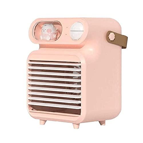 LNLYF Refrigeratore ad Aria Portatile Desktop per Ufficio, Mini unità di condizionatore Personale per la casa, Piccola Ventola di Ghiaccio di Raffreddamento Mobile con USB Luce Ricaricabile e a LED