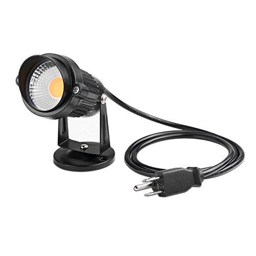 Lemonbest LED Landscape Up Down Light 5W White LED Decorative Spotlight Lamp 110V with Plug for Indoor Outdoor Yard Step Wall Lighting (Warm White)(NO SPIKE )