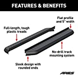 ARIES 2051970 AeroTread Running Boards 5 in. Carbide Black Powder Coat Aluminum Mounting Brackets Sold Separately AeroTread Running Boards