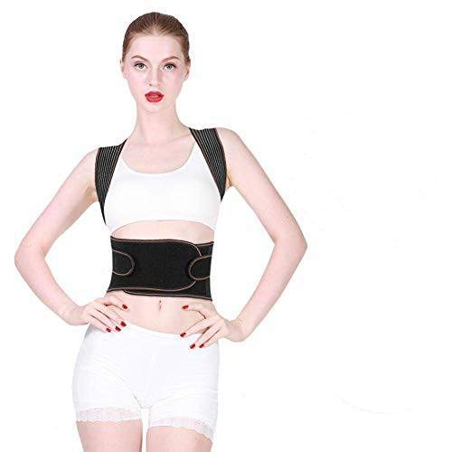 Vruping Body Posture Corrector,Adjustable Lumbar Shoulder Support Belt Kyphosis Correct Brace(Unisex)(XXL)
