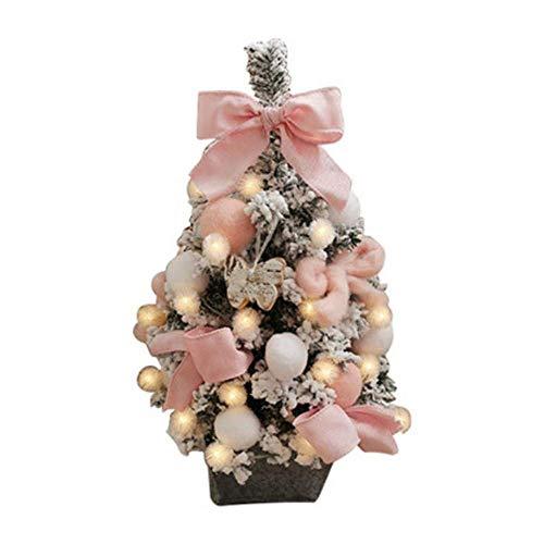 ZSY kerstboom, roze kudde kerstboom, licht gewicht, kinderen groei vakantie scène decoratie rekwisieten, desktop en TV kast decoratie, hotel tuin woonkamer decoratie