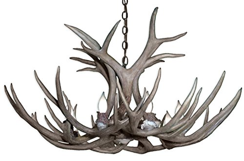 Real Antler Mule Deer Single Tier Chandelier Light XX-Large