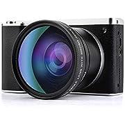 CamKing Digital Camera 1080P 4.0Inch LCD Touch Screen 8X Digital Zoom Wide Angle Camera Camcorder 24MP 4K Vlogging Camera