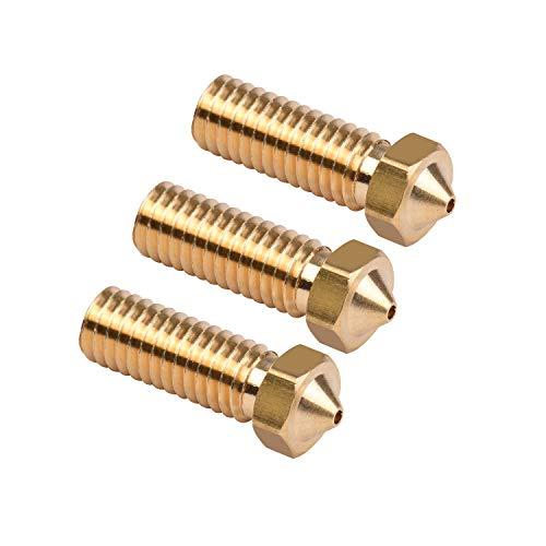 Aibecy-3 Piece 3D Printer Volcano Brass Extruder Nozzle M6 Thread Printer Head 1.2 mm Output for Sidewinder X1 TEVO Little Monster Filament 1.75 mm 1.2mm