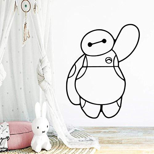 Wandaufkleber Retro Cartoon Baymax Selbstklebende Kunst Tapete Für Kinderzimmer Diy Home Decoration Wandbild Poster Schlafzimmer Wandaufkleber Naklejki 28X35Cm