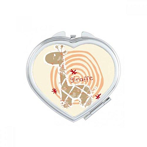 DIYthinker Lunettes Tigre Beau Coeur d'animal Maquillage Compact Miroir de Poche Miroirs Mignon Petit Cadeau Portable à la Main Multicolor