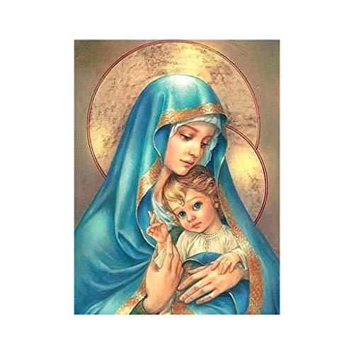 jieGorge 5d Fai da Te Diamante Pittura Ricamo Artigianato Strass incollato Punto Croce, Pittura Diamante per Il Giorno di Pasqua (A)
